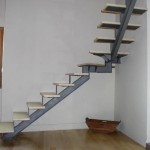 Escalera con dos tramo