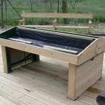 Mesa de cultivo madera